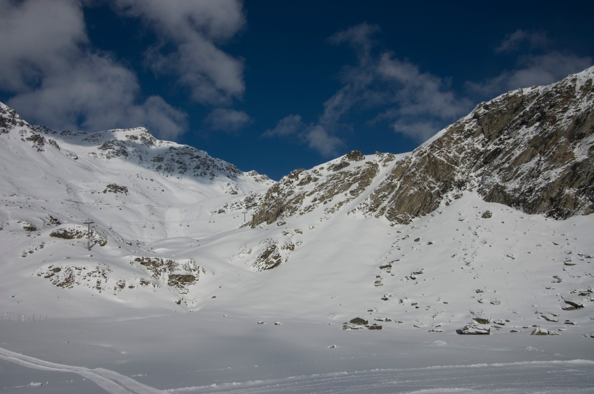 Beautiful snow in Orelle